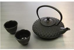 Happy Sales HSCT-MCB15, Cast Iron Tea Pot Tea Set Shogun, Bl
