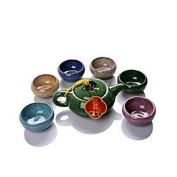 Dehua Porcelain Ice Crack Glaze Ceramic Kung Fu Tea Set Tea