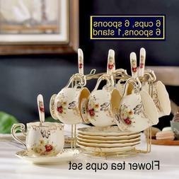 ivory ceramic tea cups set pack of