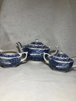 "JAMES SADLER Never Used ""Afternoon Tea"" Set  Pot, Sugar,"