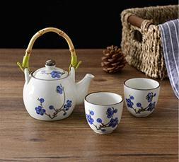 Japanese Style Artificially-Painted  Porcelain tea set