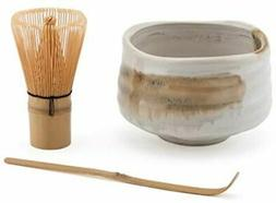 Japanese Bamboo Matcha Chasen Whisk Scoop 21 oz Matcha Bowl