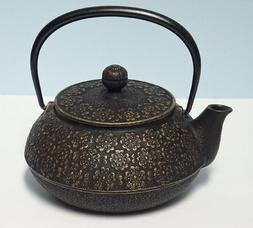 TEAVANA Cherry Blossoms TEAPOT JAPANESE CAST IRON With INFUS