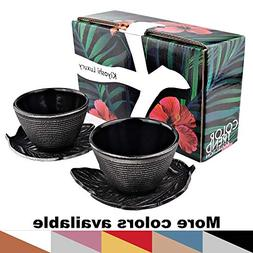 KIYOSHI Luxury Japanese Cast Iron Tea Cups Set 4 pieces - 2