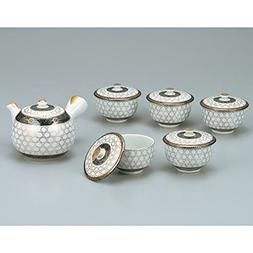 Japanese drawn Ceramic Porcelain kutani ware. Japanese kyusu