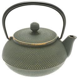 "Iwachu Japanese Iron Tetsubin Teapot with""Bronze"" Hobnail, G"