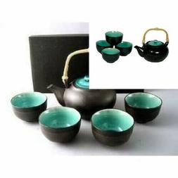 Japanese Ocean Blue Five Piece Teaset