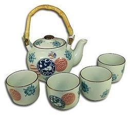 5-pc Japanese Plum Tree Tea Set