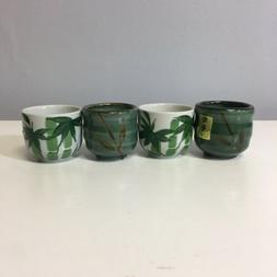 Japanese Style Tea Pottery small Cups Set Bamboo Picture