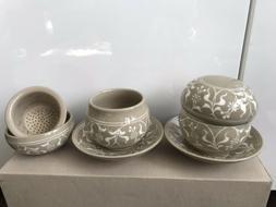 Japanese Tea Cup Set Saucer Infuser Lid