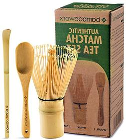 BambooWorx Japanese Tea Set, Matcha Whisk , Traditional Scoo