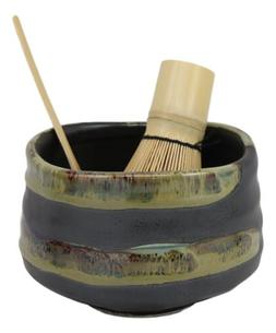 Japanese Traditional Tea Ceremony Matcha Glazed Green Bowl W