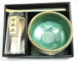 Japanese Traditional Tea Matcha Set With Bowl Wooden Whisk &