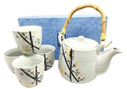 Japanese Design Yellow Cherry Blossom Luxury Ceramic Tea Pot