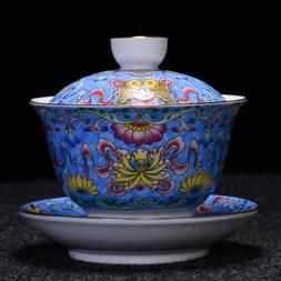 jingdezhen craft porcelain gaiwan handpainted tureen covered
