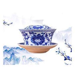 Jingdezhen Lotus Design Chinese Gaiwan Traditional Chinese T