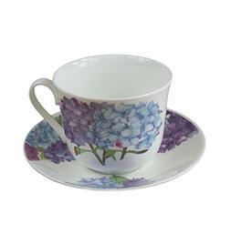 Roy Kirkham Jumbo Breakfast Cup and Saucer in Hydrangea Desi