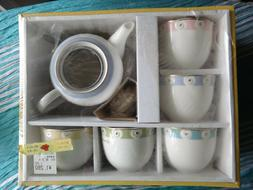 Kansai Fine China Adult Tea Set Japanese Japan 5 Colors Gold