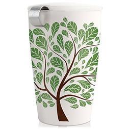 Tea Forte KATI Cup Loose Leaf Tea Brewing System, Green Leav