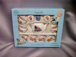 Kewpie Doll Theme Childs Tea Set Porcelain Schylling NEWin B