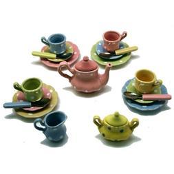 Kid's Polka Dot Play Tea Set