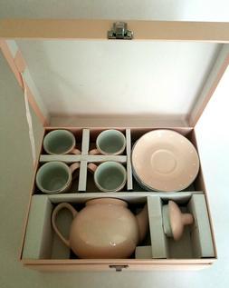 Pottery Barn Kids Porcelain Tea Party Set Pink White Polka D