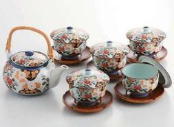 Kikkogan Botan Japanese Tea Pot & Tea Cup with Lid Tea Utens