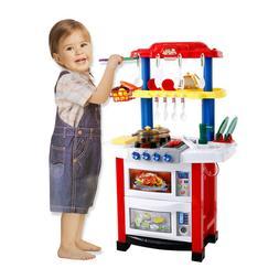 Kitchen For Toddler Set Large Playset Kid Play Tea Rack Chil