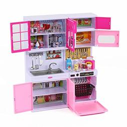 """Happy Emily"" Toy Kitchen Set for 11-12"" Dolls  Pink by Kind"