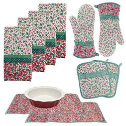 Laura Ashley Kitchen Towels Oven Mitts Pot Holders Drying Ma