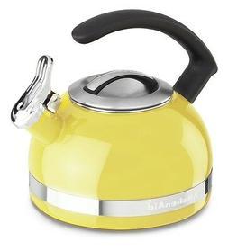 KitchenAid 2-Qt Steel Band Tea Kettle Whistle kten20cbis Cit