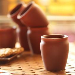 Kullad Mugs Glass Ceramic Tea Coffee Cups Mugs Set of 6 Piec