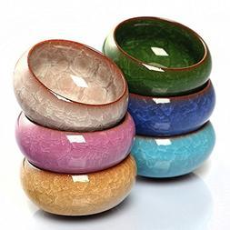 Mangocore 6pcs Kung Fu Tea Cup Set Crackle Glaze 30ml Travel