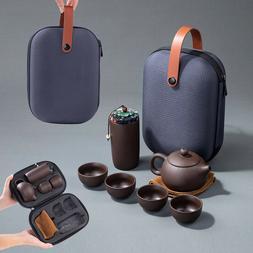 Kungfu Tea Set Chinese Travel Ceramic Porcelain Teapot Porta