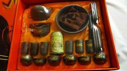 kungfu tea set complete tea set in Chinese , purple clay pot