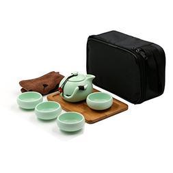 T Tocas Kungfu Tea Set Handmade Chinese/Japanese Vintage Des