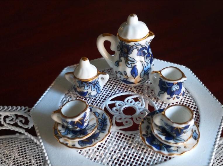 1:12 15pcs Tea Cup Flower Tableware