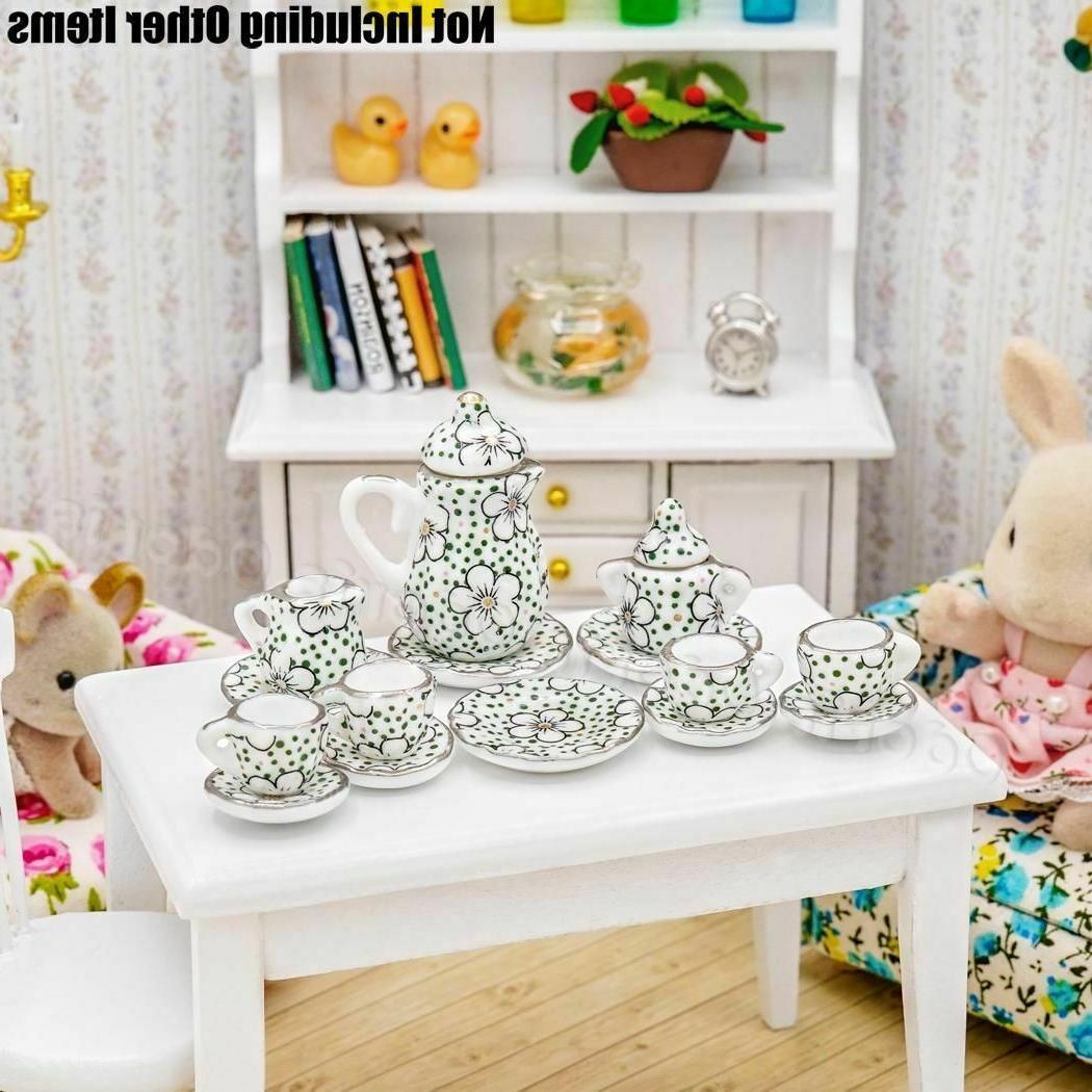 1:12 Miniature Tea Flower Tableware Kitchen Gift