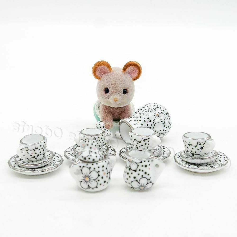 1:12 Tea Cup Flower Tableware Kitchen