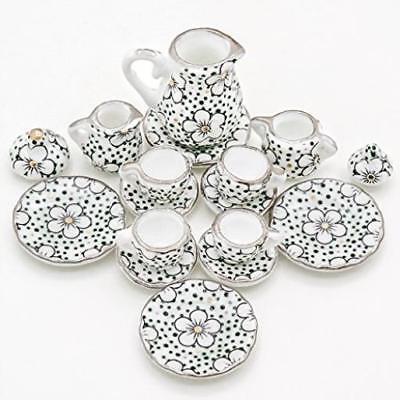 1 12 miniature 15pcs porcelain tea cup