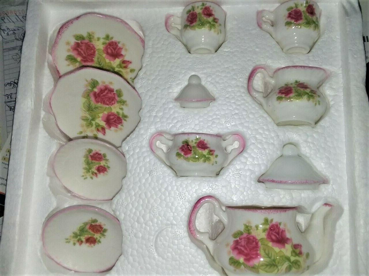 11 piece bone china child tea party