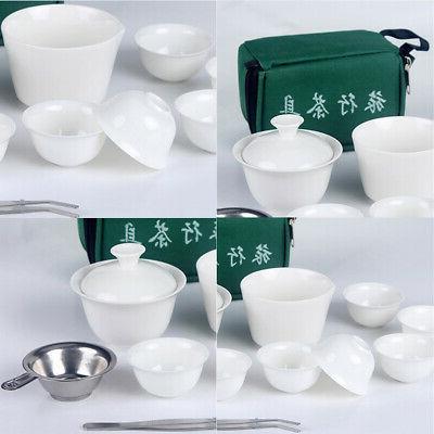 11Pcs Tea Chinese Portable Cerami China Teaup Fu