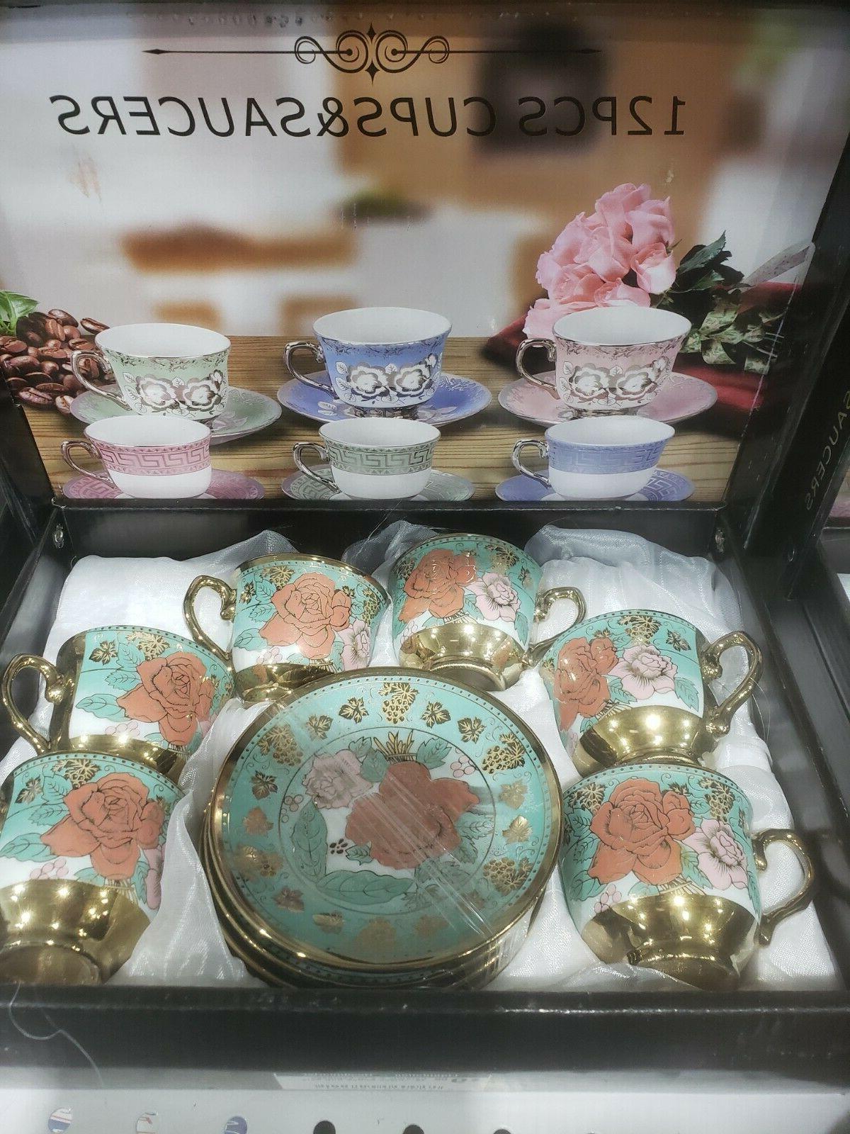 12 Saucers coffee and tea