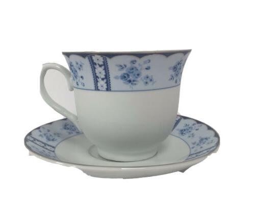 12 pcs vintage floral design tea cup