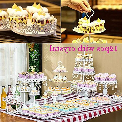 12 Set Cake Holder Cake Dessert Dessert Pedestal