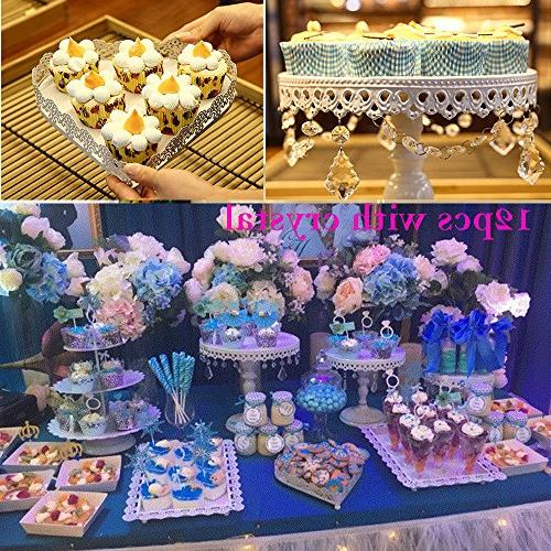 12 Metal Cake Holder Cake Pendants Birthday Dessert Pedestal