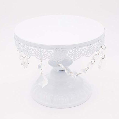 12 Cake Holder Cake Holder Pendants and Birthday Dessert Cupcake Pedestal Display,White