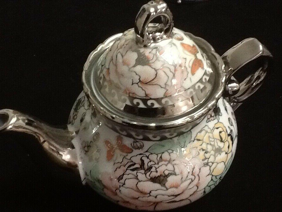 13 Pc Tea Saucers w TeaPot Lid