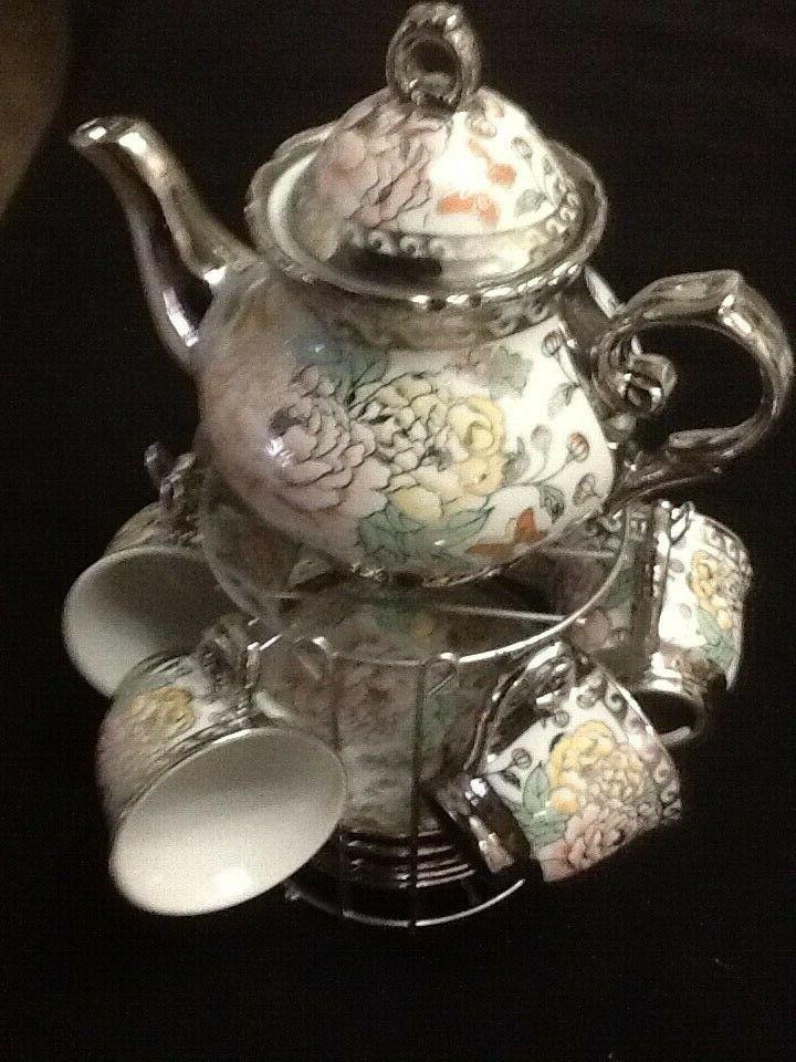 13 Tea Cups Saucers Multi 3 TeaPot