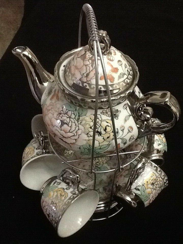 13 Set Tea Saucers w Multi TeaPot
